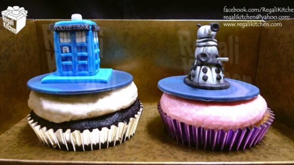 TARDIS and Dalek Cupcakes