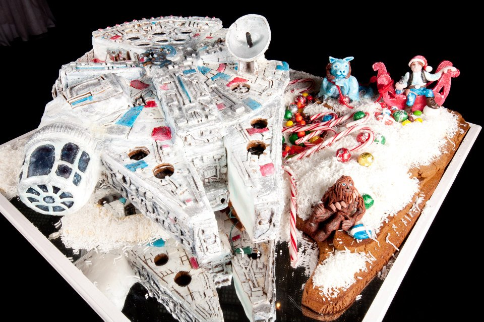 Star Wars Millennium Falcon Gingerbread house