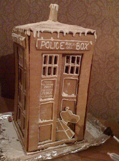 Doctor Who Gingerbread TARDIS and K-9