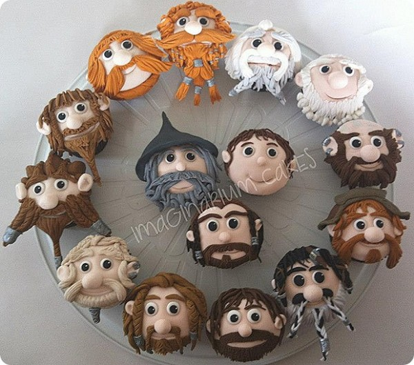 Lord of the Rings Hobbit Cupcakes