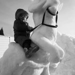 Kid Rides Awesome Tauntaun Snow Sculpture [pic]