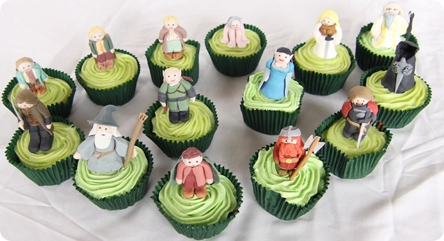 Lord of the Rings Characters Cupcakes