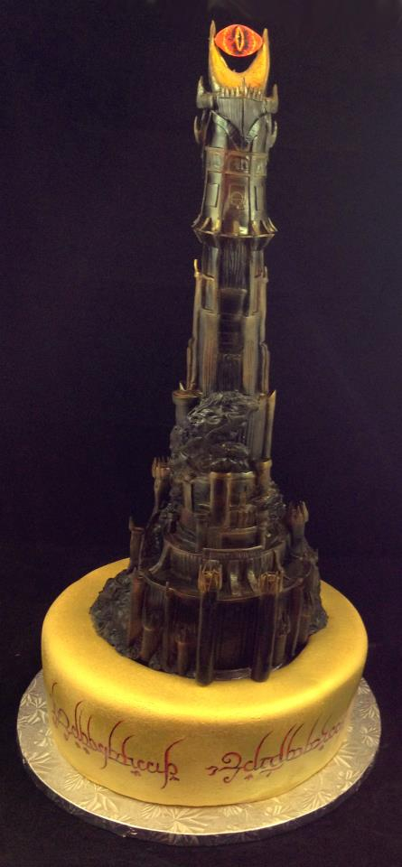 Lord of the Rings Fortress of Sauron Cake