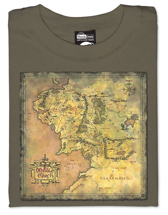 Map of Middle Earth T-Shirt