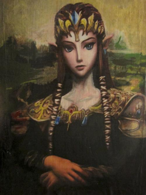 Princess Zelda as the Mona Lisa
