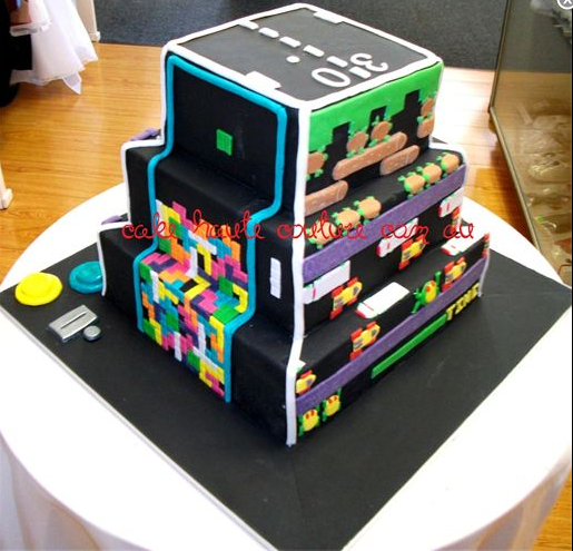 Video Games Birthday Cakes Retro Video Game Cake