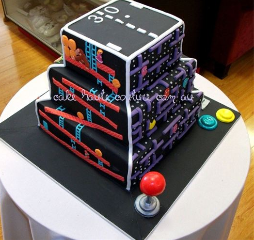 Retro Video Game Cake