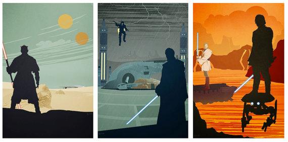 Star Wars Prequel Trilogy Poster Set