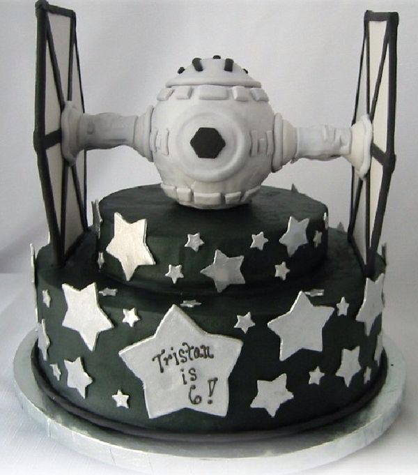 Tie Fighter Birthday Cake