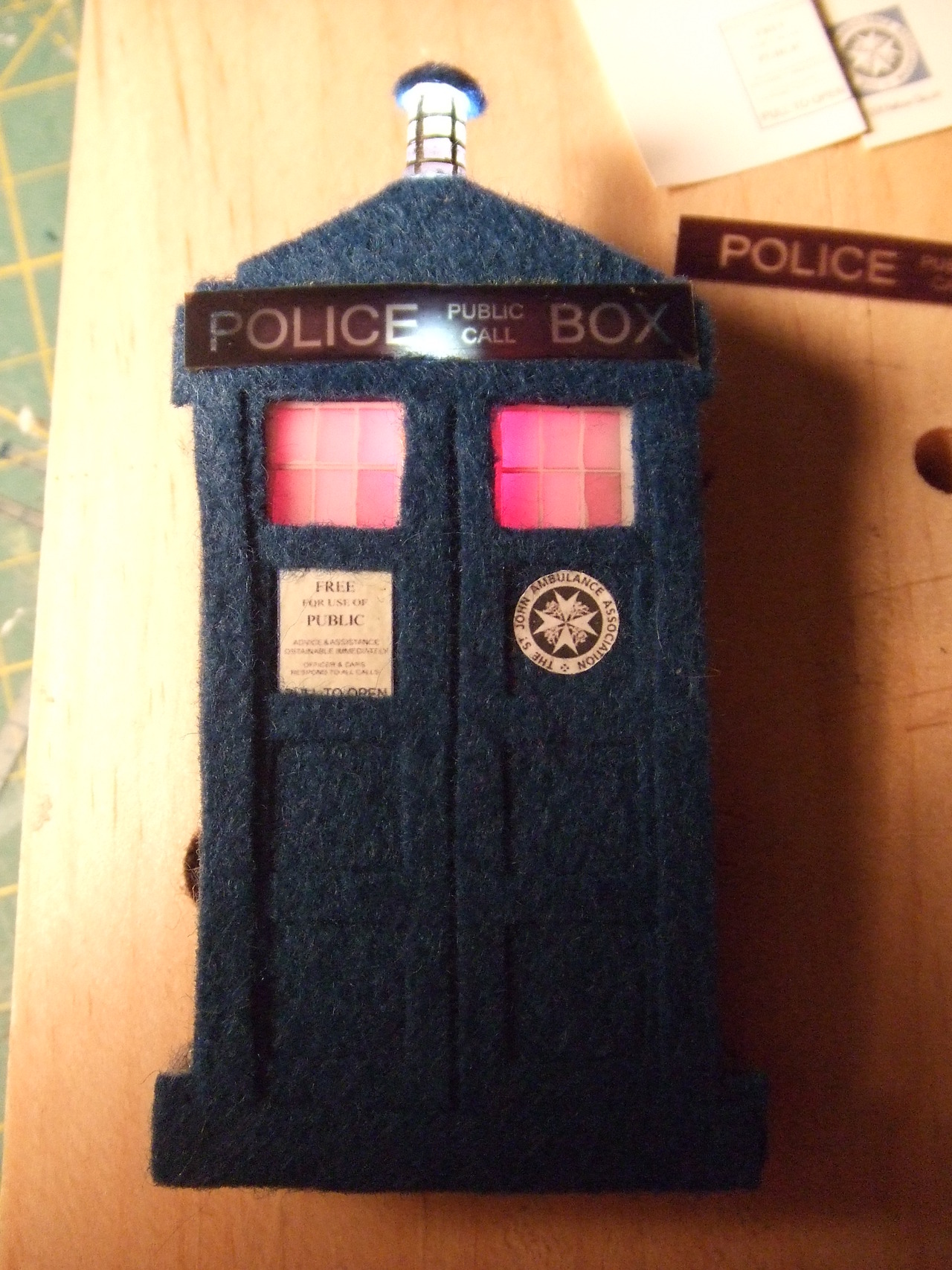 Doctor Who TARDIS Lapel Pin
