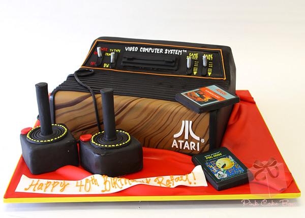 Atari 2600 Birthday Cake
