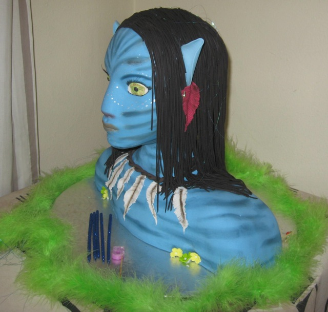 Avatar Neytiri Cake Side