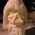 Star Wars Darth Vader Snow Sculpture