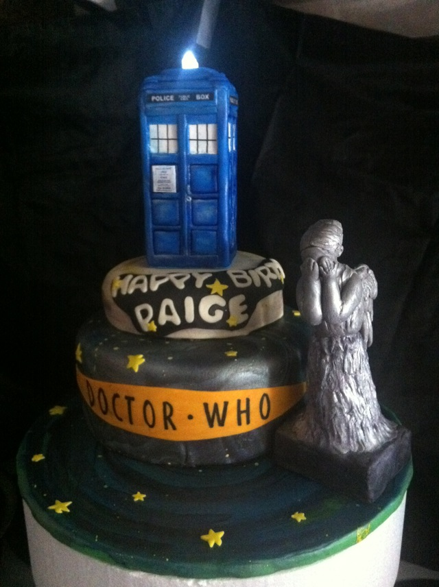 Awesome Doctor Who Weeping Angel Birthday Cake pic Global Geek News