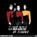 Bill Nye, Carl Sagan and Neil deGrasse Tyson Say Engage in Science and Buy This Shirt! [pic]
