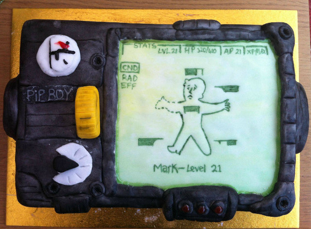 Fallout Pip-Boy Cake