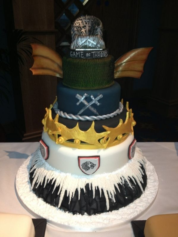 Game of Thrones Wrap Party Cake