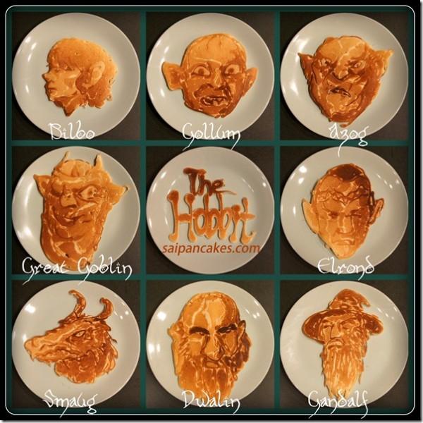 Hobbit Character Pancakes