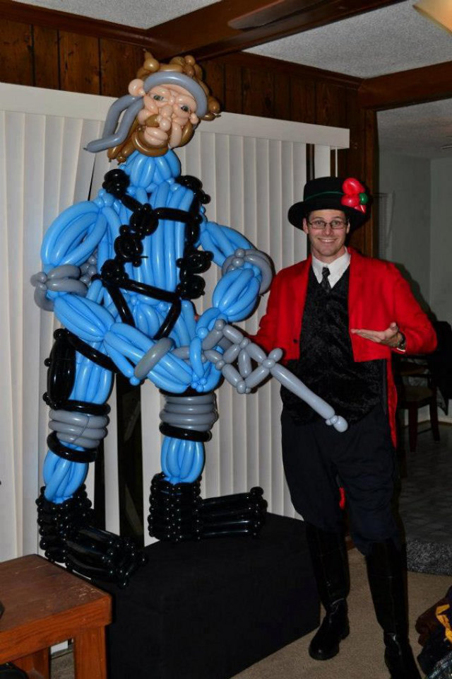 Solid Snake Balloon Animal Sculpture