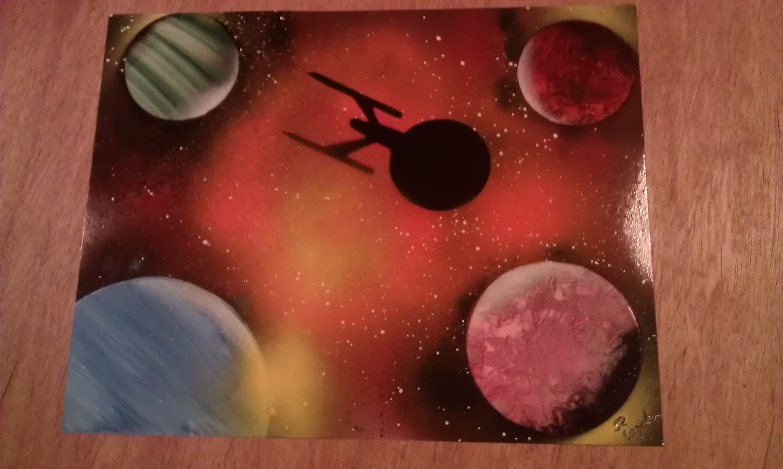 USS Enterprise Painting