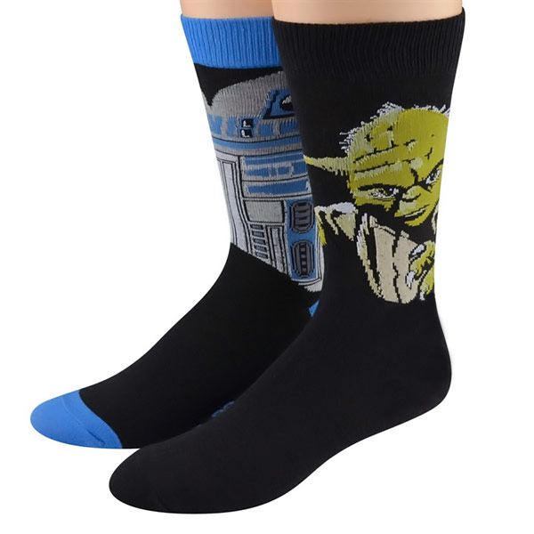 Star Wars R2-D2 and Yoda Socks