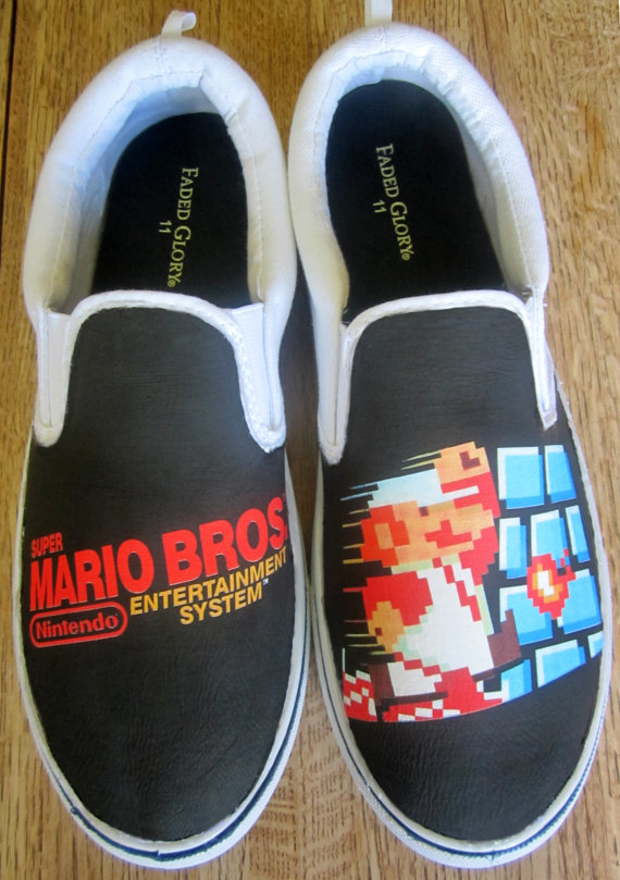 Custom Super Mario Bros Shoes