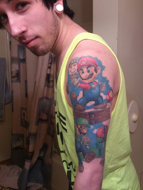 Super Mario Bros Tattoo