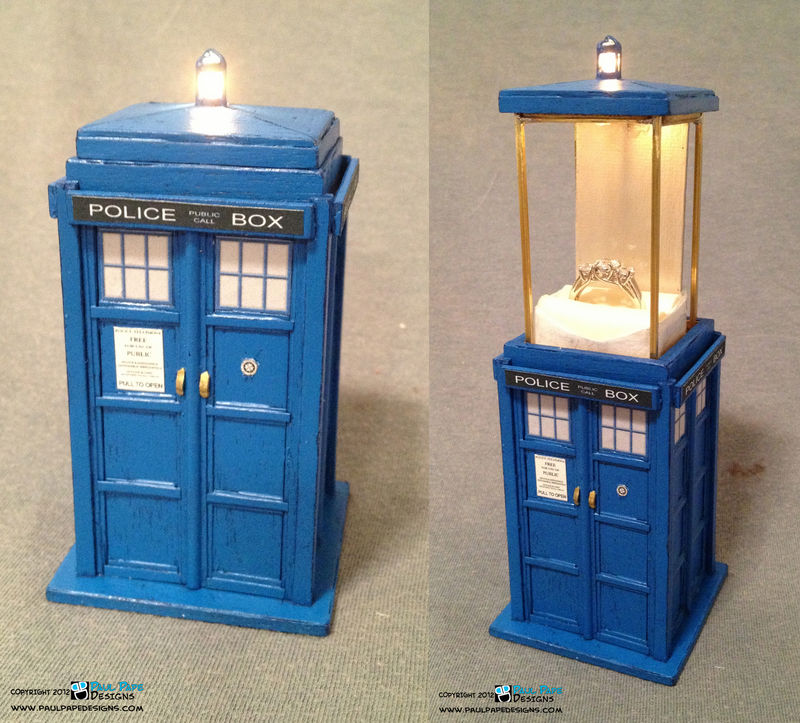 this tardis enement ring box is fantastic and clever pic - Doctor Who Wedding Ring