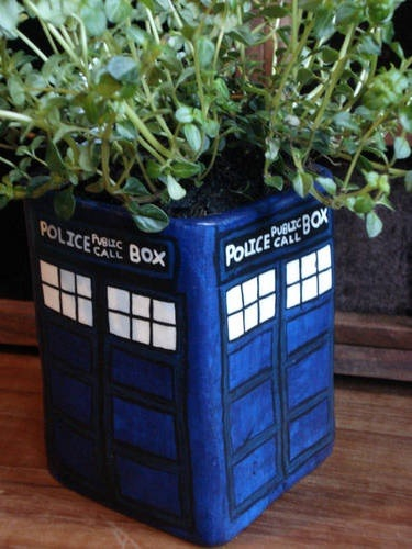 TARDIS Flower Pot