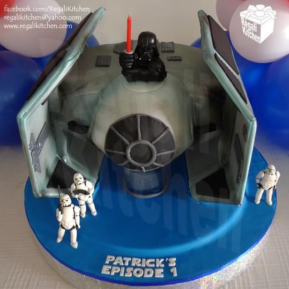 Star Wars Tie Bomber Cake
