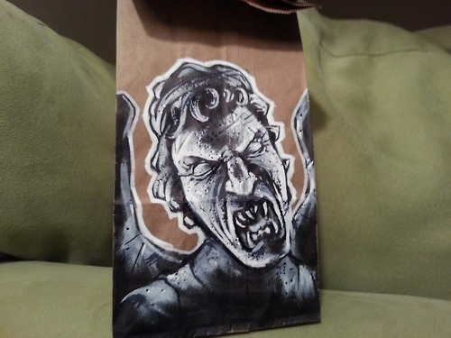 Weeping Angel Lunch Sack Art