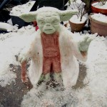 Yoda Snow Sculpture