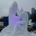 Batman Fighting a Shark is One of the Coolest Snow Sculptures Ever [pic]