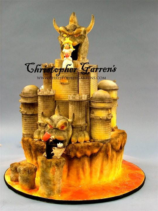 Super Mario Bowser's Castle Cake
