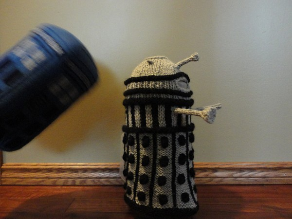 Doctor Who french press cozy
