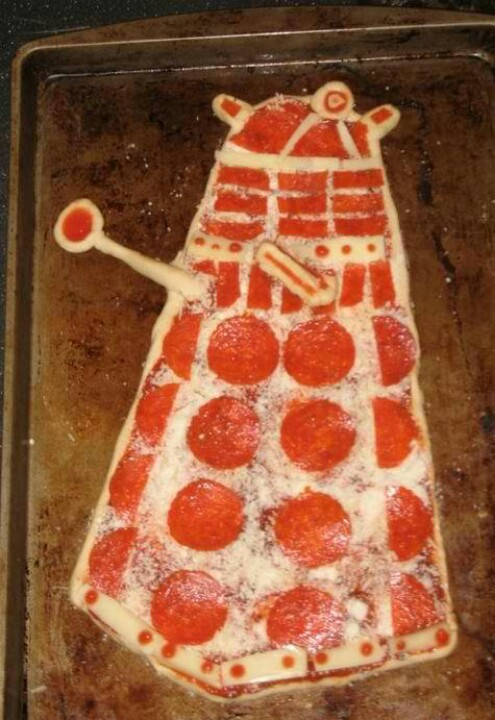 Doctor Who Dalek Pizza