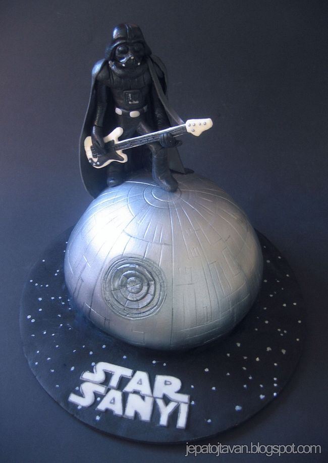 Darth Vader Bass Guitar and Death Star Cake
