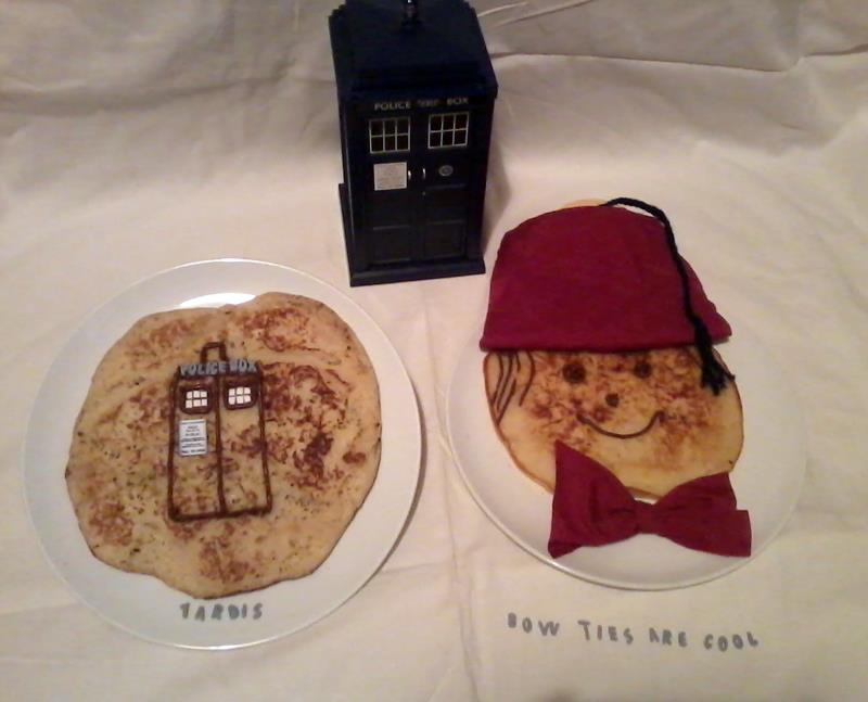 TARDIS and 11th Doctor  Pancakes