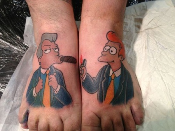 Futurama Fry and That Guy Tattoos