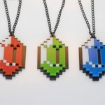 Set Of Legend Of Zelda Pixelated Rupee Necklaces [pic]