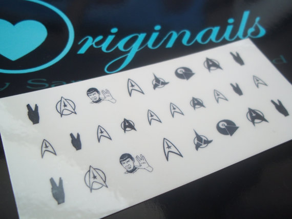 Star Trek Fingernail Tattoos