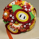 Super Mario Bros Fireflower Wedding Bouquet [pics]
