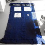 Doctor Who Crocheted TARDIS Blanket [pic]