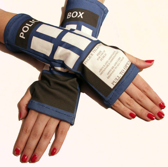Doctor Who TARDIS Wrist Warmers