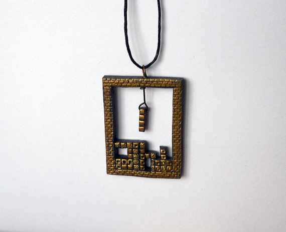 Tetris Necklace Pendant
