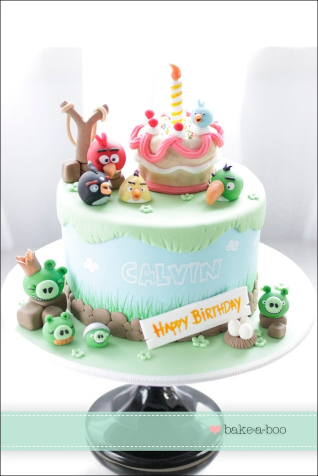 Incredibly Cute Angry Birds Birthday Cake pic Global Geek News