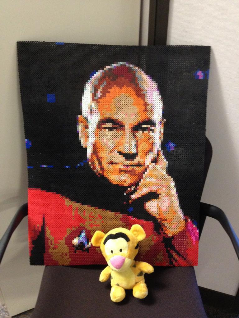 Captain Picard Bead Sprite