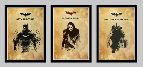 Batman Dark Knight Trilogy Poster Set