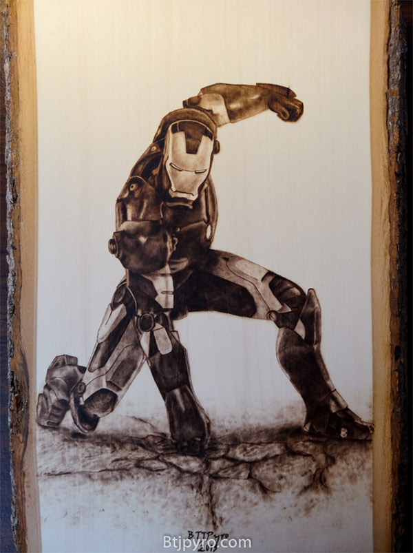 Iron Man Wood Art