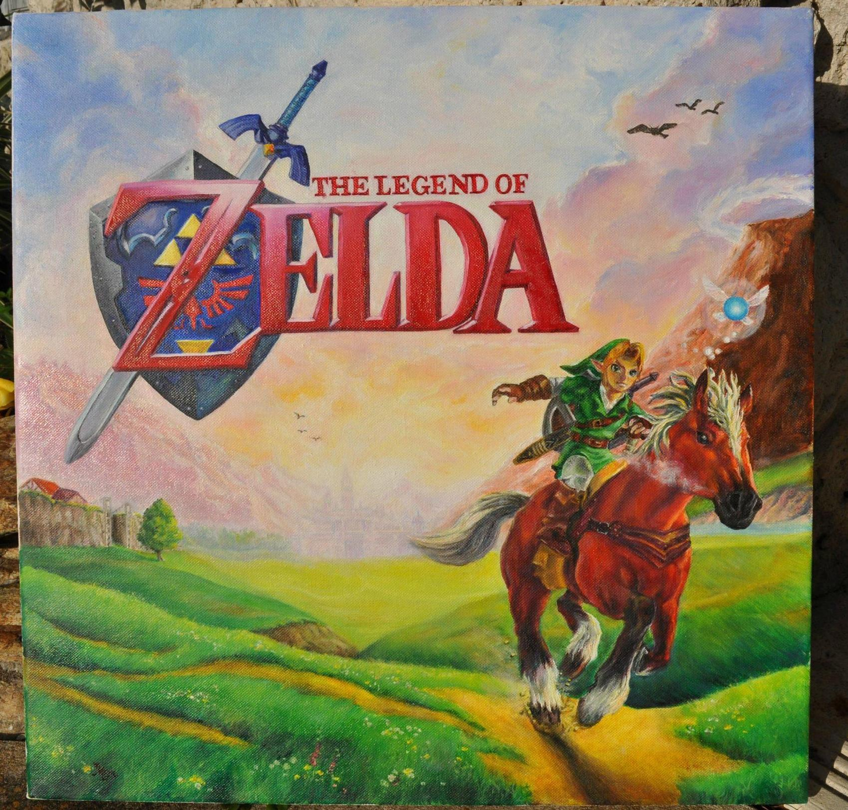 Legend Of Zelda Oil Painting